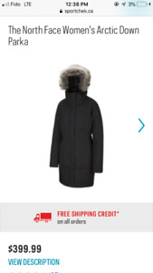Selling women's brand new north face winter jacket