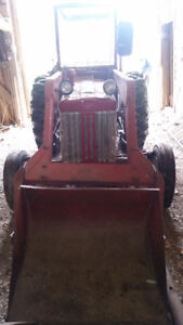 International B414 Tractor, Loader & Snow Blower for sale