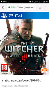 Witcher 3 for PS4 $15