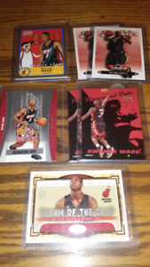 Miami Heat Dwyane Wade rookie and insert cards