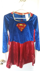 Girls Supergirl Costume - Size Large