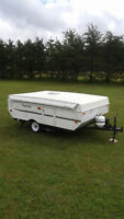 10 FOOT FLAGSTAFF HARD TOP TRAILER,