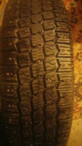almost new studded winter tires for sale