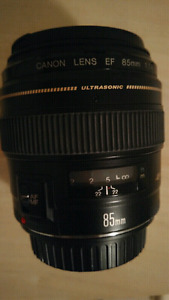 Canon EF 85mm f 1.8
