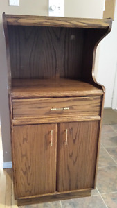 Solid Oak Microwave Stand
