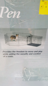 Dog Play Pen for Large Dogs 24 x 42