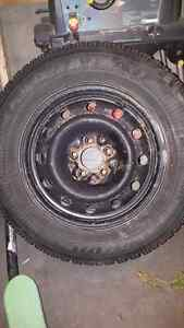 4Winter tires on rims 225/60 R16 used 1 winter on 5 bolt pattern