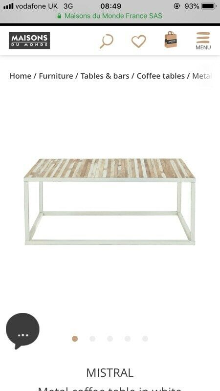 New Metal Coffee Table In White In New Cross London Gumtree