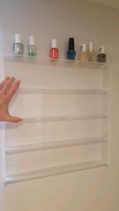 Acrylic Nail Polish wall rack holder.