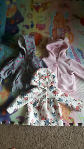Baby girl jackets size 6-18 months