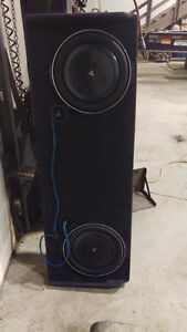 2 13' JL audio shallow subs with 1200 w JL amp