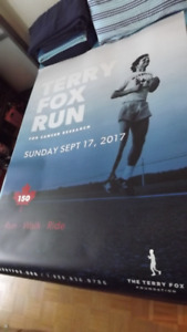 TERRY FOX 6 FT.TALL GIANT JUMBO PROMO POSTER/ANNUAL FOX RUN