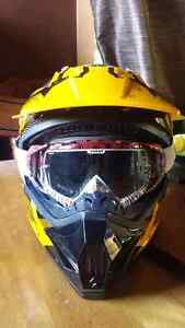 Can-Am helmet and Thor goggles
