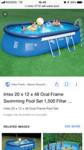 20*12 I texted oval pool