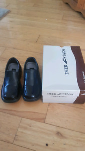 Deer Stags black shoes Size 11 boys