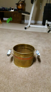 copper/brass pot for plants