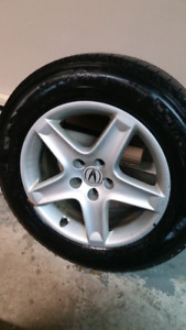 "Acura alloy 17"" rims with Michelin snow"