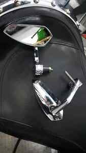Chrome Bar End Motorcycle Mirrors