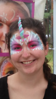 Unicorn  face painting birthday parties or kids events