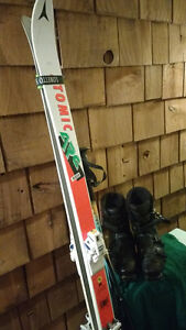 Skis,poles,boots