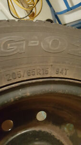 snow/ice tires on rims w/hubcaps Kitchener / Waterloo Kitchener Area image 4