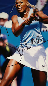 SERENA WILLIAMS AUTOGRAPHED PHOTO and WILSON HS3 Racquet