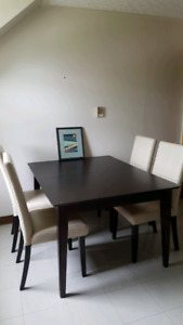 Table 42x53 and 4 chairs