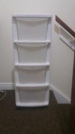 Plastic storage drawer