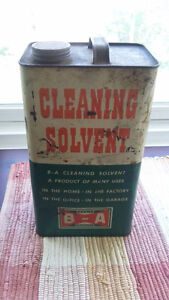 B/A one gallon cleaning solvent can