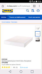 Sommier neuf pour matelas double
