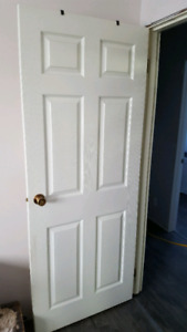 6 panel interior doors with frame and hardware( 3 for sale)