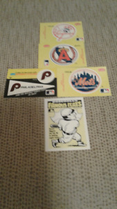 Look 5 of 22 1986 famous feats baseball stickers
