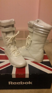 Reebok Freestyle White Boots (women's size 8 - fits 7.5)