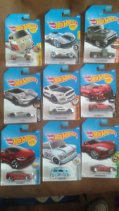 2017 Hot Wheels Lot of 9 Die Cast Cars