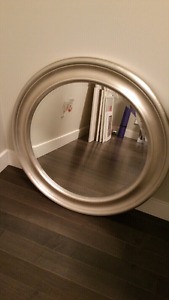 IKEA Round Silver Wall Mirror