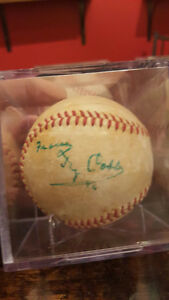 TY COBB AUTHENTICATED SIGNED BASEBALL - JSA LOA