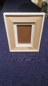White & Wood  Picture Frame