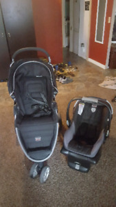 Britax car seat and stroller combo
