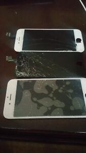 reparation vitre d iphone6,5s,5c,5,4s,et 4