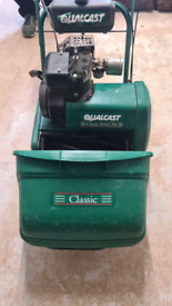 Qualcast classic petrol 35s lawnmower good condition just had service