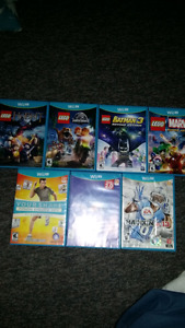 Wii U games Lego Marvel/Batman/Jurassic
