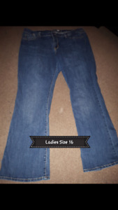 3 PAIRS LADIES SIZE 16 JEANS PICKUP IN THE HANOVER AREA