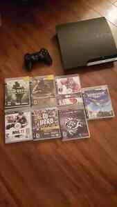 MINT SLIM PS3 WITH CONTROLLER AND GAMES Cambridge Kitchener Area image 1