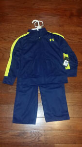NWT Under Armour Boys Track Suit - Size 4