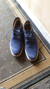 Chukka Shoes blue sueded Timberland