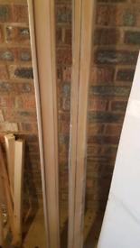 Free sliding door end post