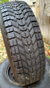 Firestone WinterForce Snows on Caravan Rims x 4 - REDUCED !