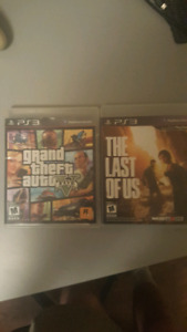 GTA 5 PS3 FOR $10 COMES WITH THE LAST OF US PS3 FOR FREE