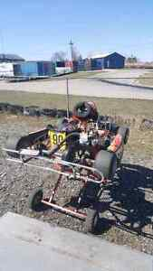 Wikked ZLO #1 honda race go kart and parts