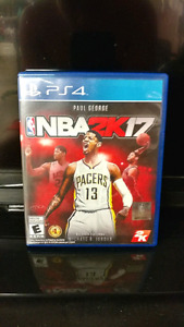 LIKE-NEW NBA 2K17 FOR PS4 (NO SCRATCHES, PLAYS PERFECTLY!) !!!!!
